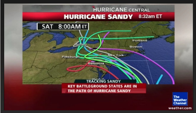 Baltimore Sun reports that Hurricane Sandy has weakened and is targeting the coast north of Ocean City; Power Outages Expected