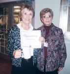 KIWANIS HONORS FIRST VOLUNTEER OF THE MONTH