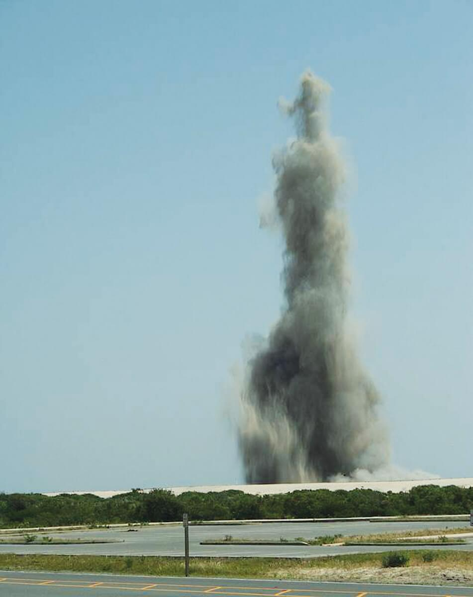More than 100 pieces of WWII-vintage ordnance detonated