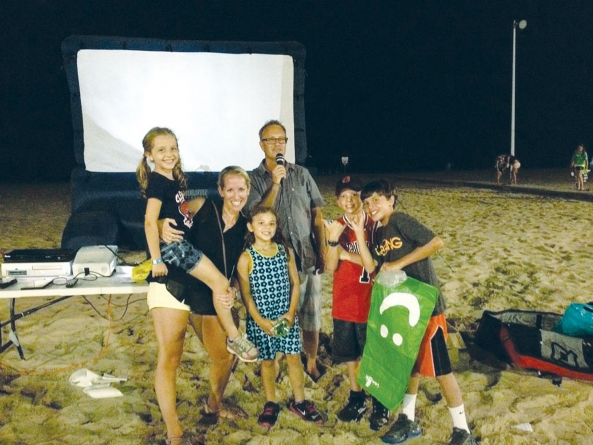 Watch surf, skate movies Saturday's on resort beach