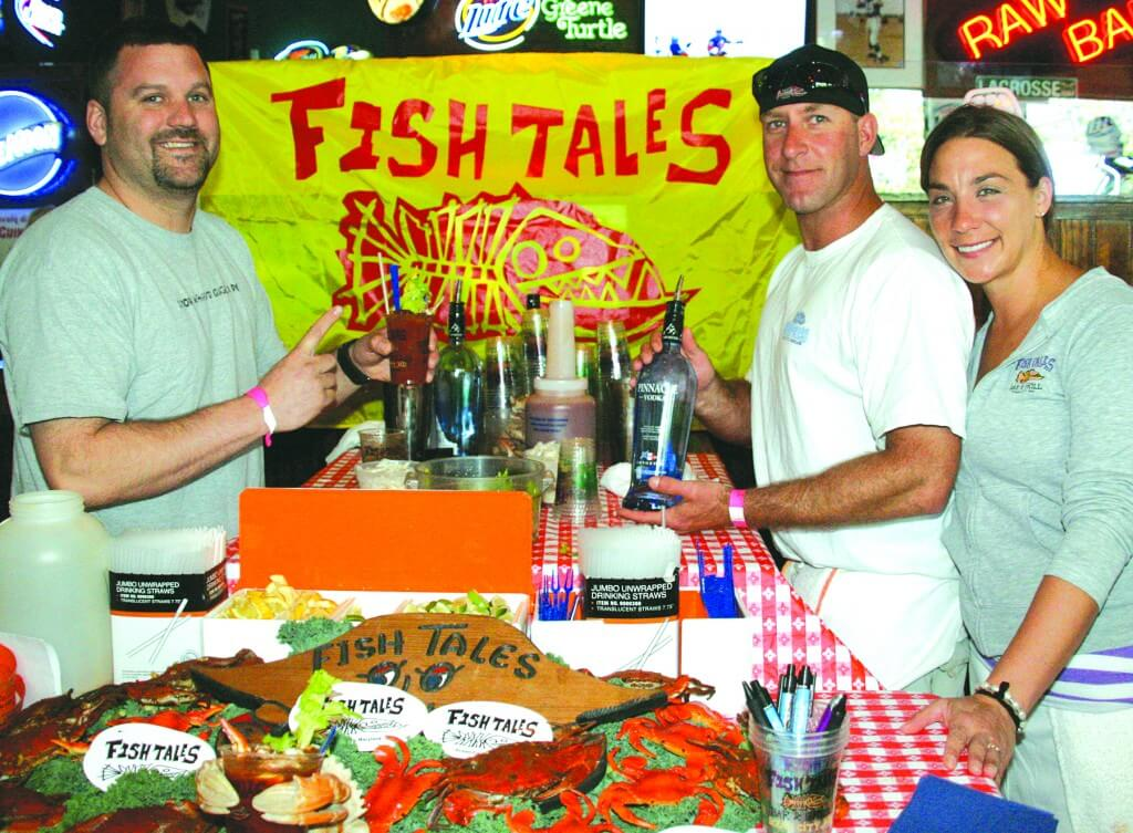 "The seventh annual ""Best Bloody Mary Contest,"" sponsored by Ocean 98 WOCM Irie Radio, was held last year at the West Ocean City Greene Turtle, on Route 611. Fish Tales won ""Best Overall Bloody Mary"" for the fourth consecutive year. Pictured, from left, are Manager Brandon Hemp and Sean and Jennifer Robins."