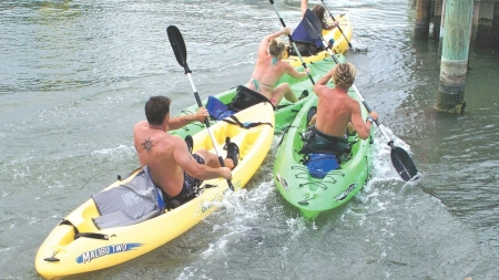 'Clamming for a Cure' kayak relays at Fish Tales, Sunday