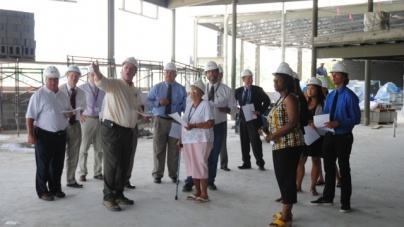 School officials, BOE and student reps tour SHHS site