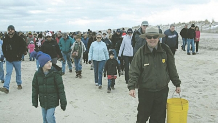 New Year's Day Beach Walk on Assateague