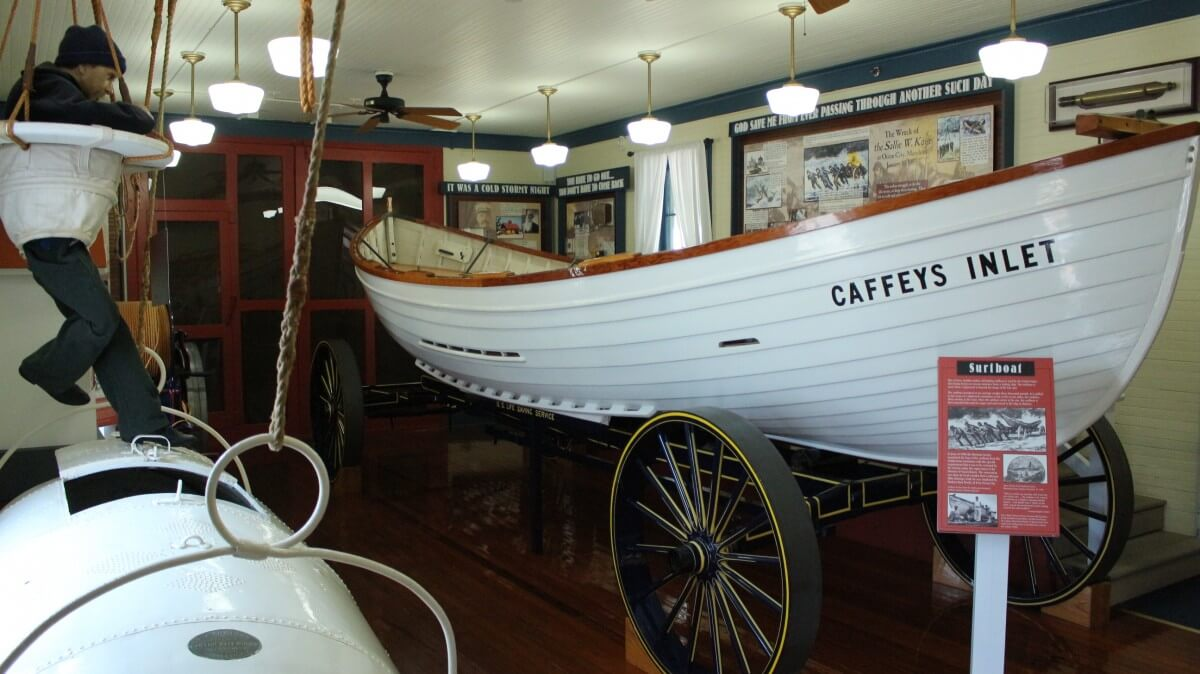 Museum surfboat