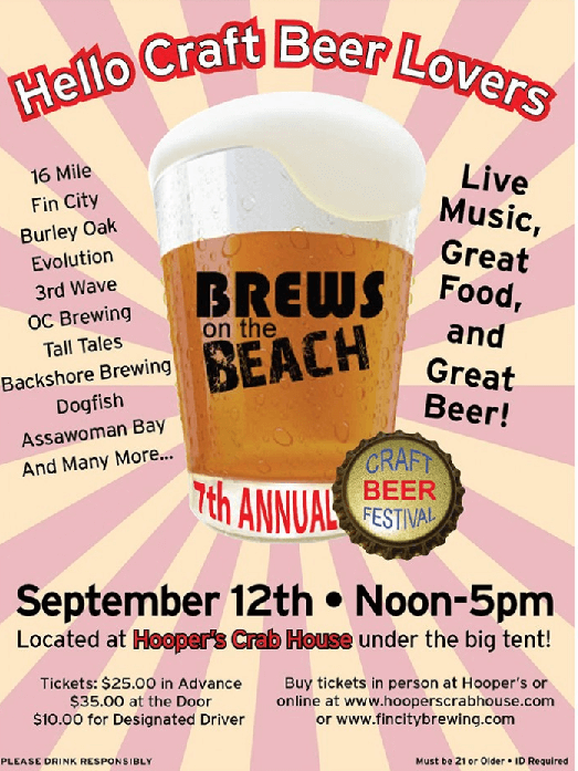 Brews on the Beach 2015 Hoopers Ocean City MD