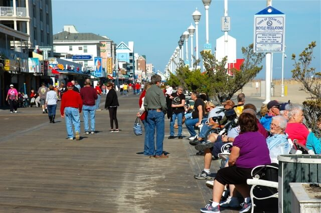 People on the boardwalk