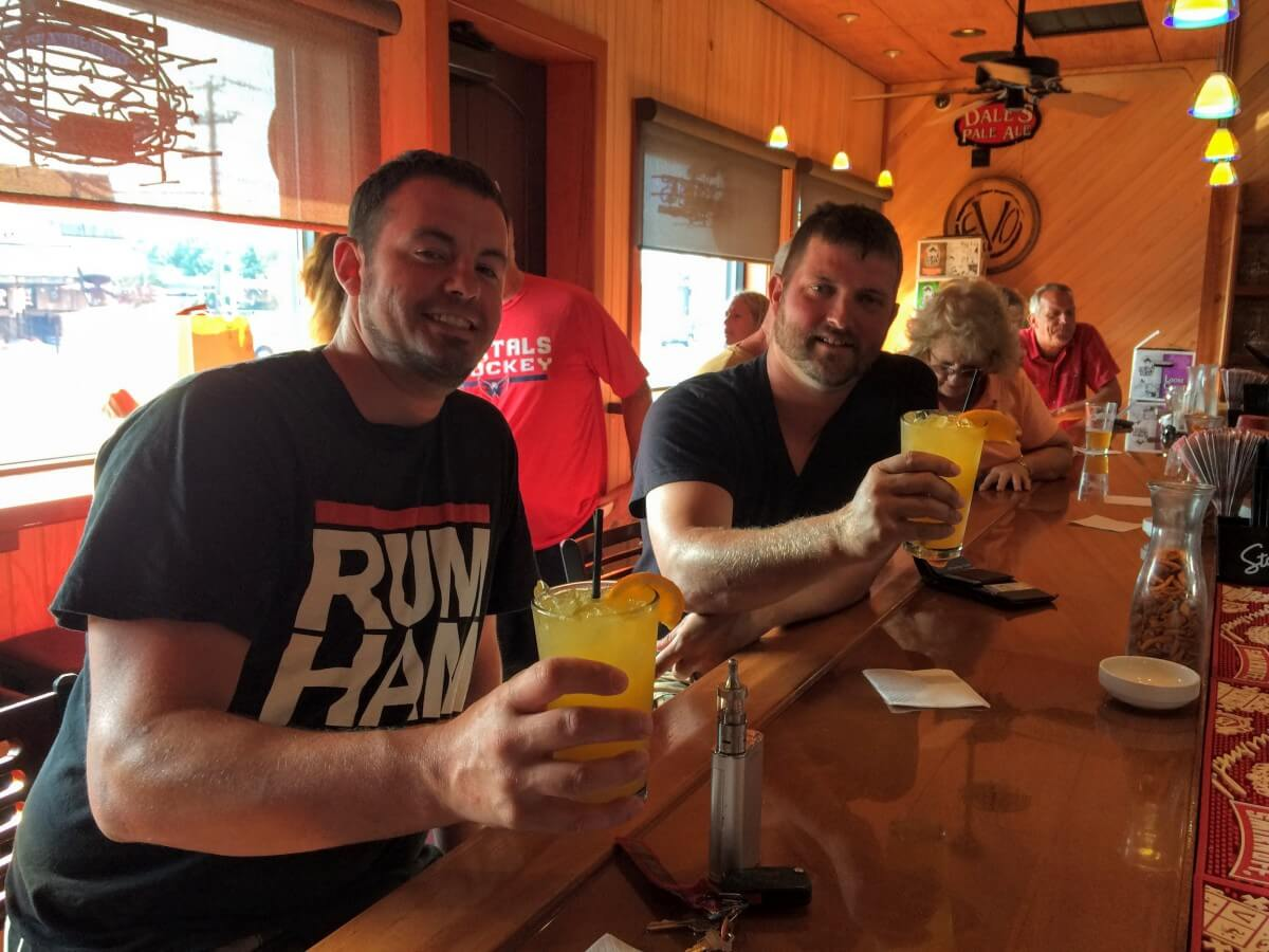 Brian Beam and Jeff Wos popped into Anthony's for a couple of Happy Hour Orange Crushes.