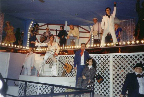 Iconic wax figures as they looked upon entering the first corridor of the Ocean City Wax Museum